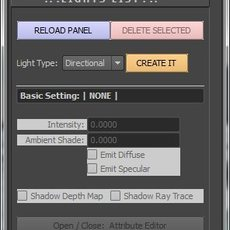 Deo's Light Control for Maya 2.1.6 (maya script)