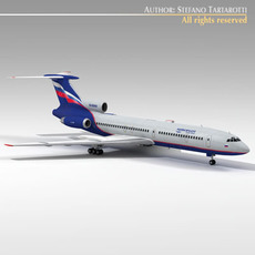 Tu-154 aeroflot 3D Model