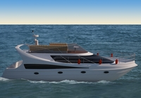 Small yacht 3 3D Model