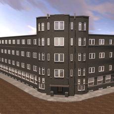 Deken van brick apartment complex 3D Model