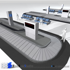 Airport baggage carousel 3D Model