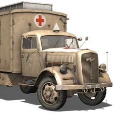 Opel Blitz - Ambulance 3D Model