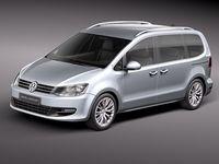 Volkswagen Sharan 2010 3D Model