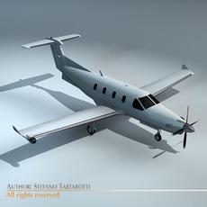 PC-12 Aircraft 3D Model