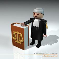 Lawyer toy figure 3D Model
