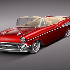 Chevrolet Bel Air convertible 1957 3D Model