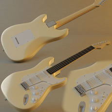 Electric guitar (Stratocaster) 3D Model