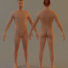 Simple low poly character 3D Model