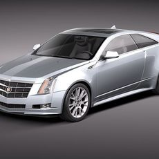 Cadillac CTS Coupe 2011 3D Model