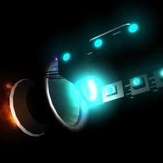 nave espacial basica 3D Model