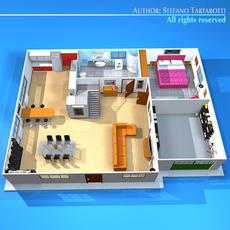 House cutaway2 3D Model