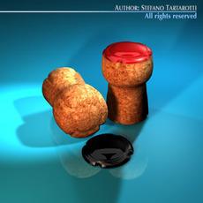 Champagne cork 3D Model