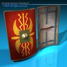 Roman shield 3D Model
