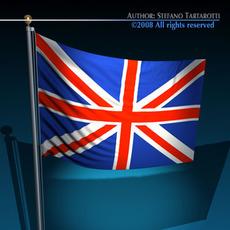 Flag United Kingdom 3D Model