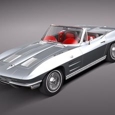 Chevrolet Corvette C2 Convertible 3D Model