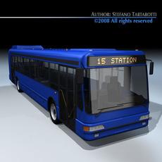 Intercity bus 3D Model