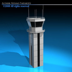 Airport control tower 3D Model
