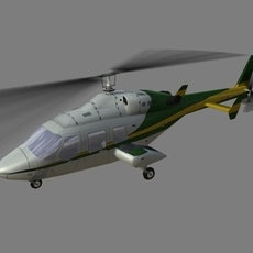 Bell 222 V1 3D Model