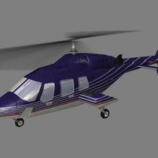Bell 222 V2 3D Model