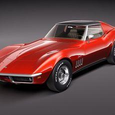 Chevrolet Corvette C3 1969 3D Model