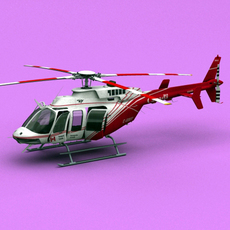 Bell 407 Canadian Ministry of Transport 3D Model