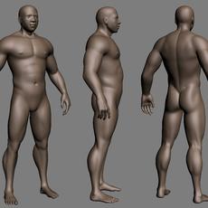 Muscled black Male 3D Model