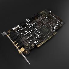 Sound Card 3D Model