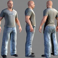 casual clothed man 3D Model