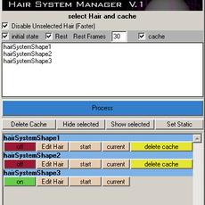Brilliantine - Hair System Cache Manager for Maya 1.0.0 (maya script)