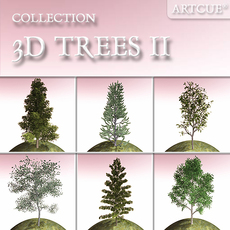 tree collection 02 3D Model