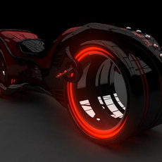 Light Bike 3D Model