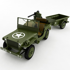 Willys Jeep Collection 3D Model