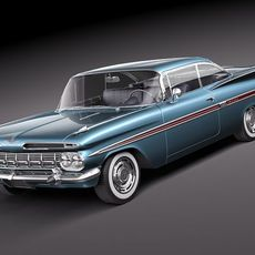 Chevrolet Impala 1959 coupe 3D Model