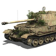 SD.KFZ 184 Tank destroyer Tiger (P) - Elefant 3D Model