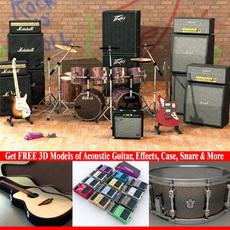 3D Model Musical Instrument Collection  3D Model