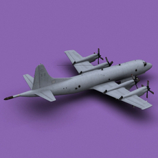 P-3 Orion Greece Air Force 3D Model