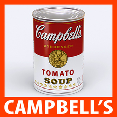 Campbell's Tomato Soup Can 3D Model
