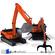 excavator collection 3 3D Model