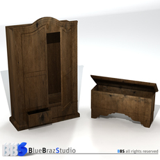 wardrobe and chest 3D Model