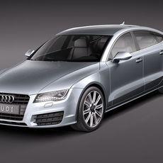 Audi A7 Sportback 2011 3D Model