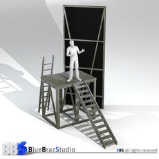 Theater elements 3D Model