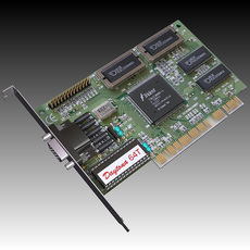 Vintage PCI Video Card 3D Model