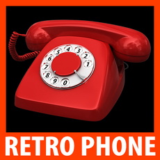 Retro Style Telephone - Heraldo 3D Model