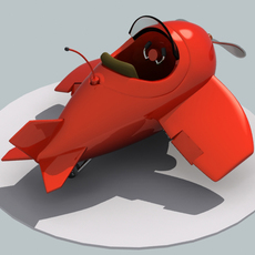 cartoony airplane 3D Model