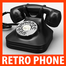 Retro Style Telephone - Bakelite 3D Model