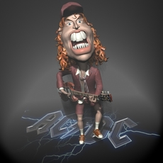 Angus Young 3D 3D Model