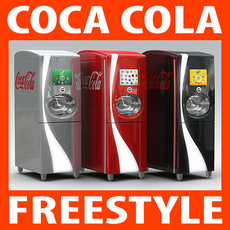 Coca Cola Freestyle Jet Fountain of the Future 3D Model