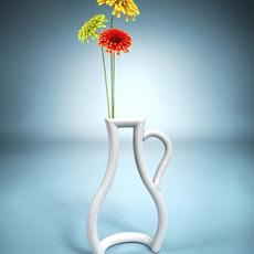 Vase Silhouette 3D Model