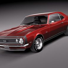 Chevrolet Camaro 1967 SS v2 3D Model