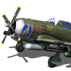 Republic P-47D Thunderbolt 3D Model
